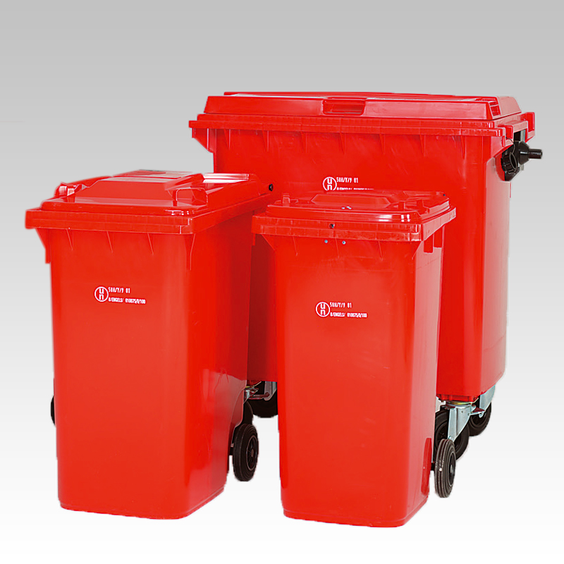 2 of 4 wiel containers