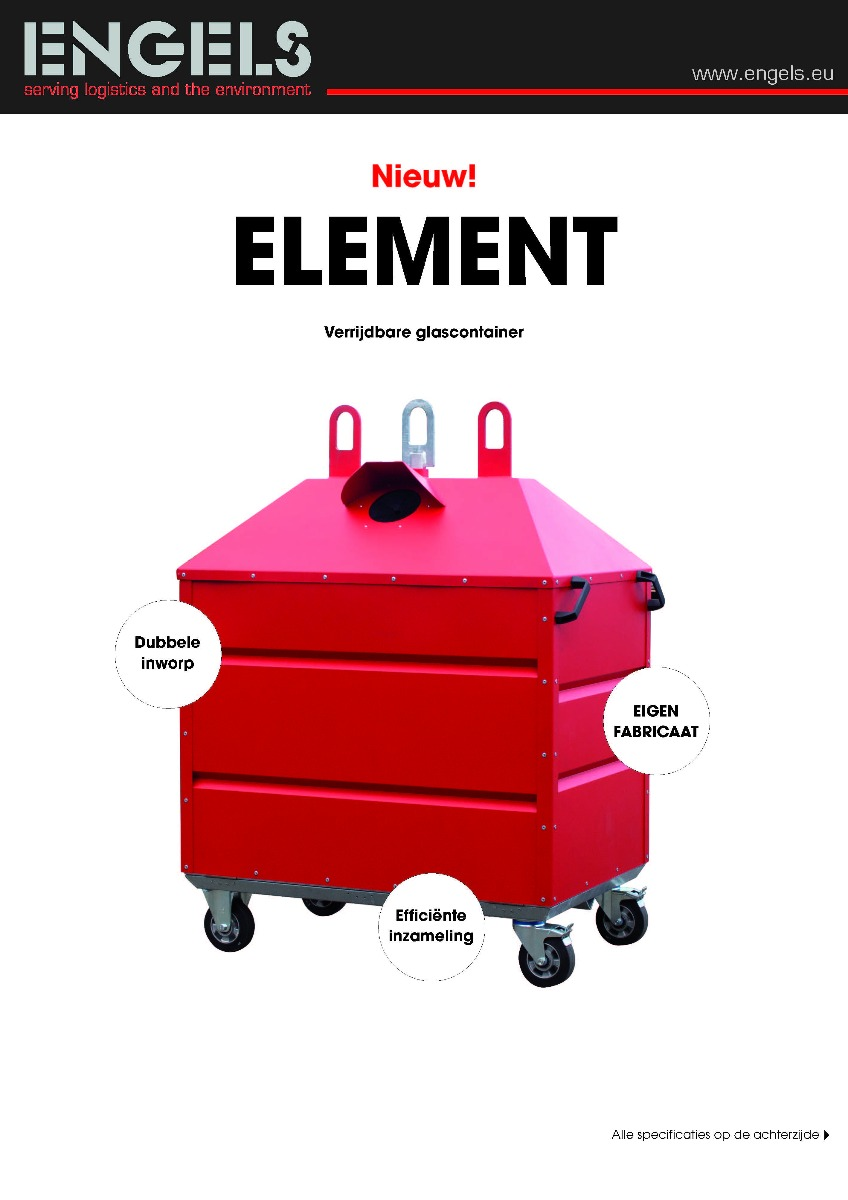 Engels Glascontainer Element