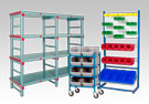 warehouse bins and racks
