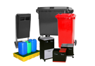 waste containers, bins and spill containment